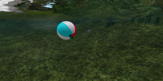 fish revenge, playing with the beach ball