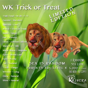 WK Trick or Treat Lion