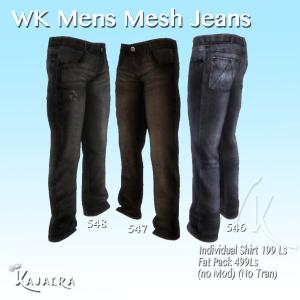 Mens Mesh Jeans