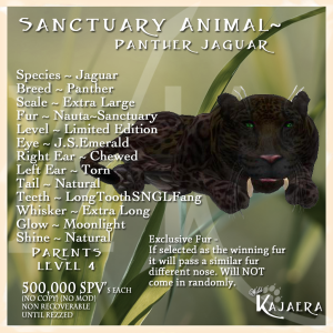 Sanctuary Panther Jag