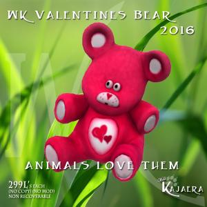 Valentines Bear 2016